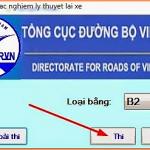 Bộ phần mềm hỗ trợ học lái xe hạng B2 online